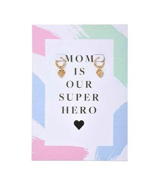 Mom Super Hero Earrings Giftcard