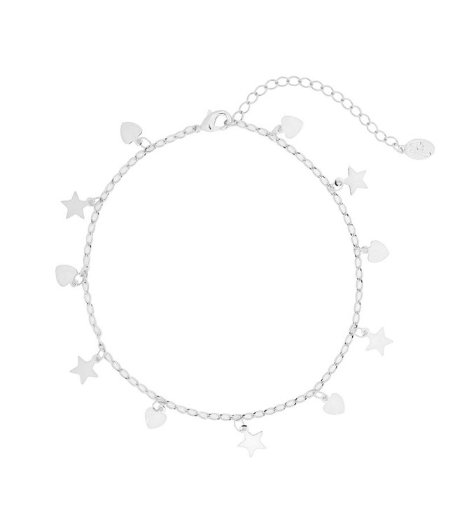 Hearts and Stars Anklet