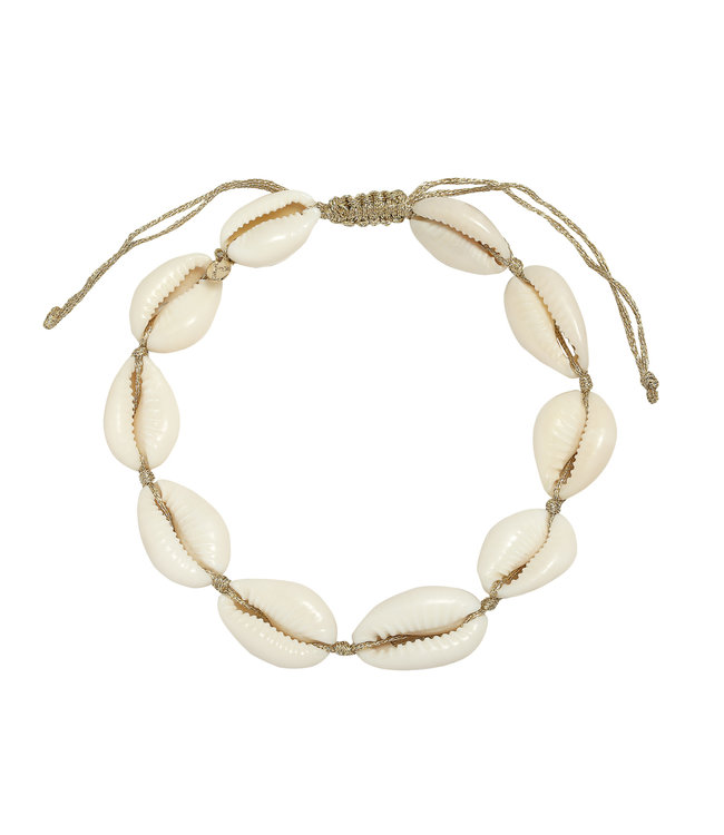 Gold Marina Shell Anklet
