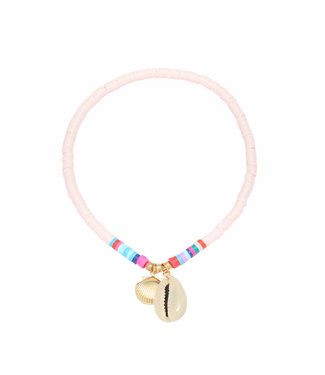 Beach Day Anklet / Pink