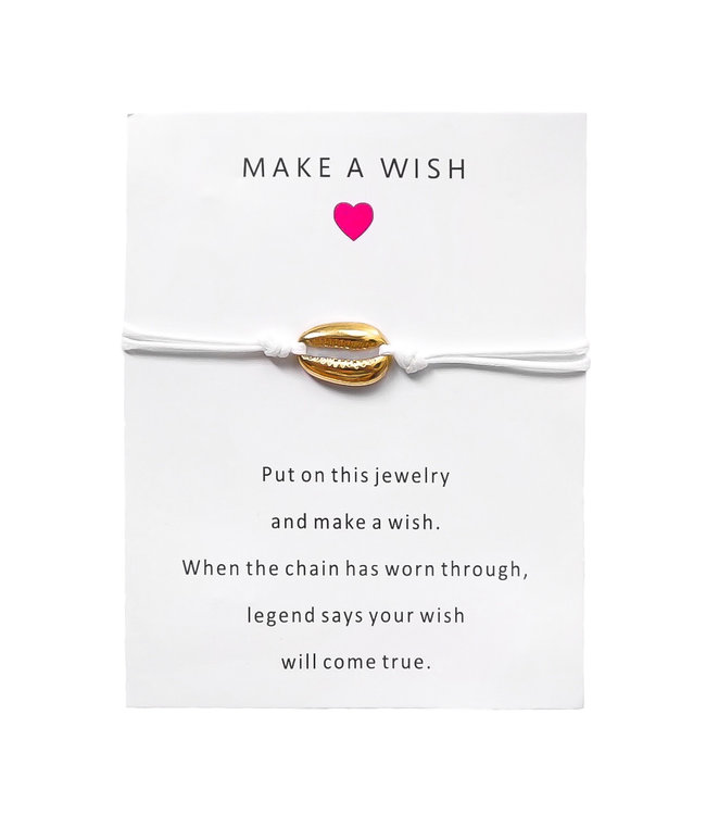 Shell Bracelet Giftcard / White