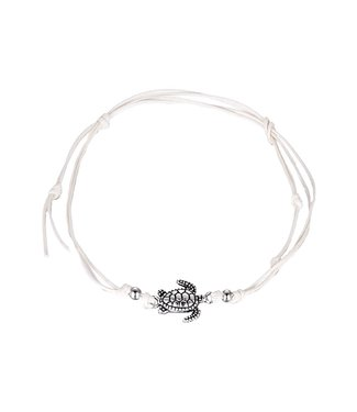 Under Water Turtle Anklet / White