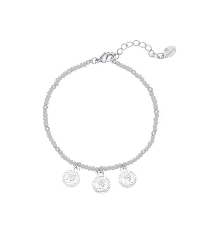 Color and Coins Bracelet / Grey