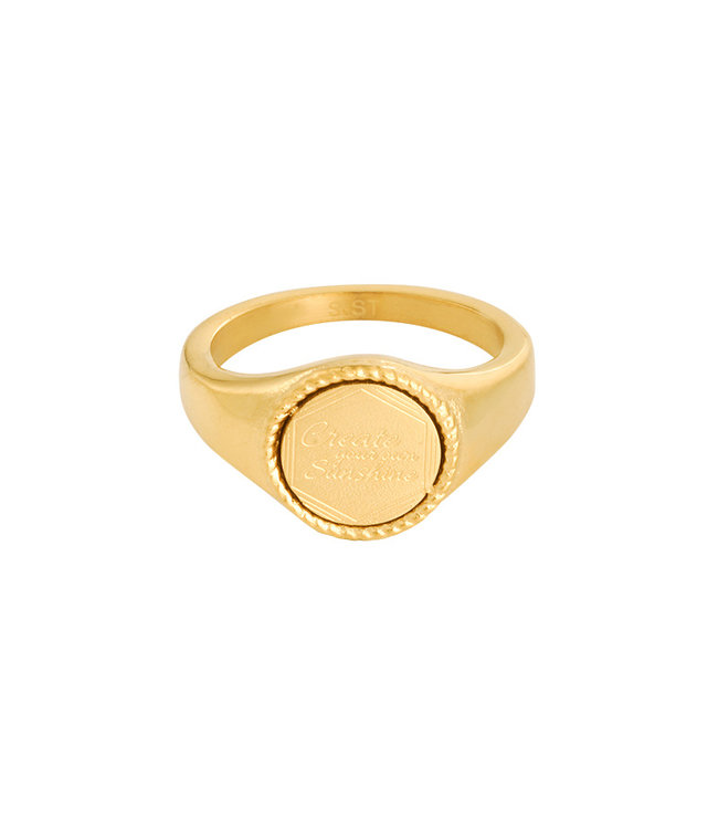 Gold The Sunset Signet Ring