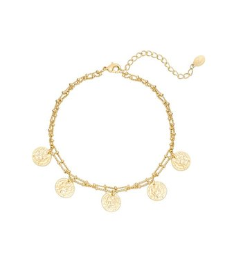 Double Coin Anklet