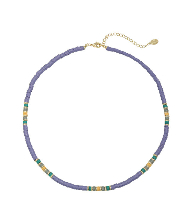 Colorful Day Necklace / Purple