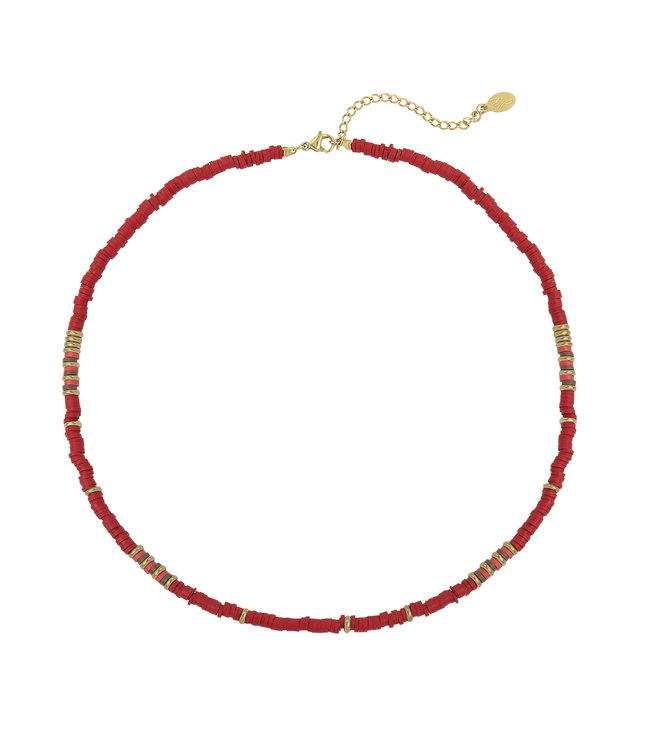 Selah Charming Beads Necklace / Red