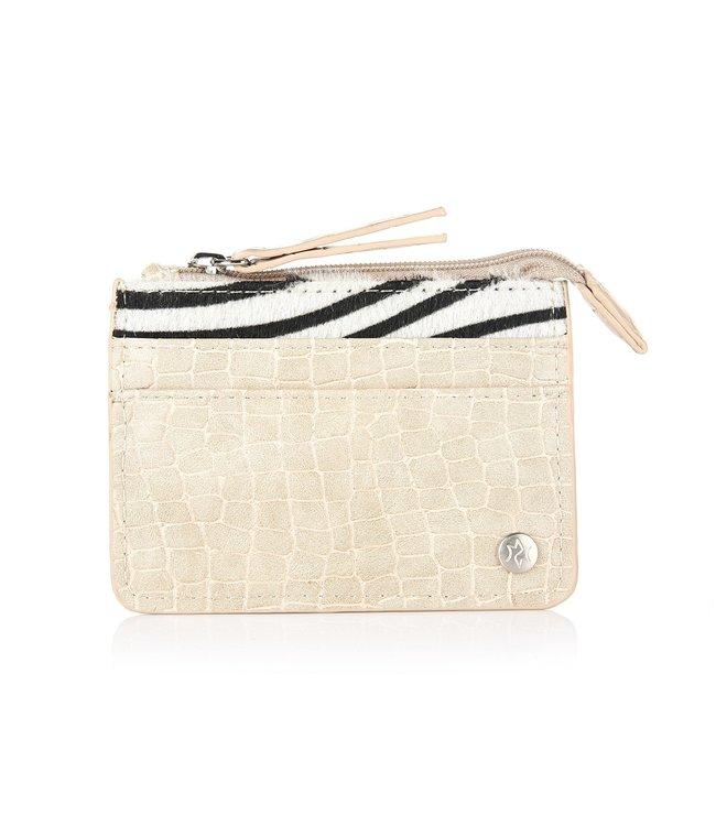 Zebra Cardholder / Beige