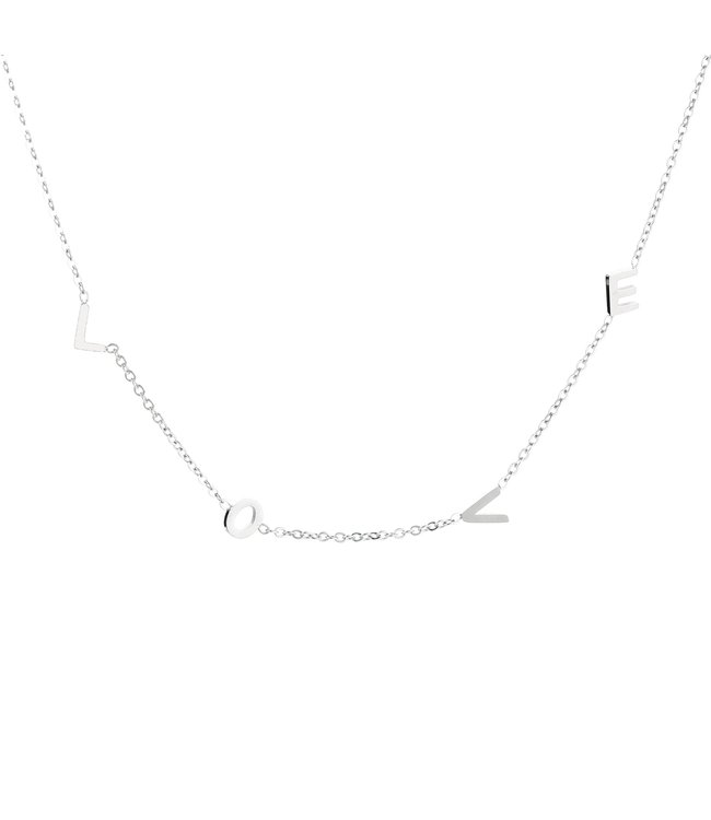 Silver Only Love Necklace