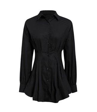 Milou Blouse Dress / Black