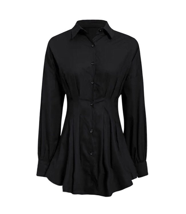 Milou Blouse Dress / Black