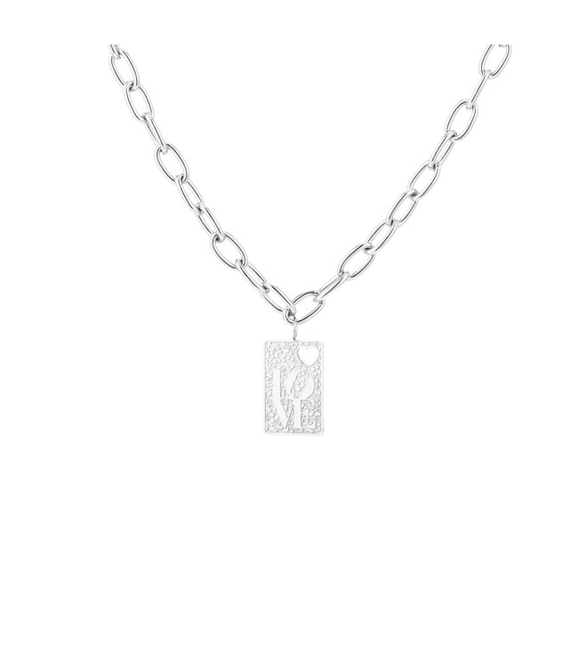 Silver Love Chain Necklace