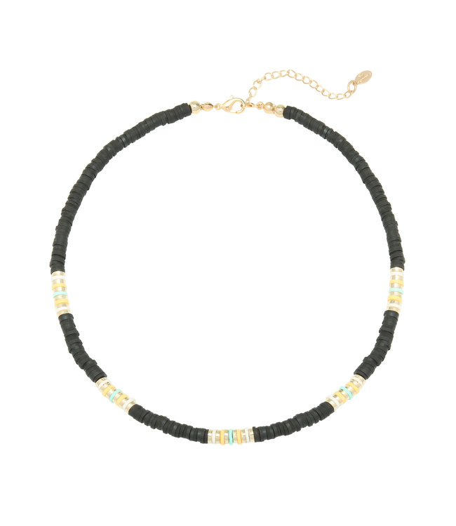 Ride the Waves Necklace / Black