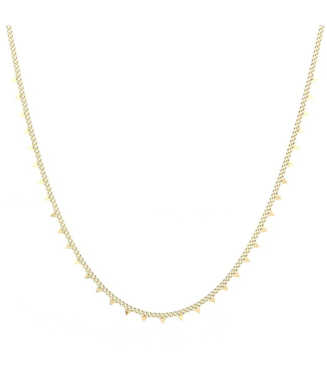 Gold Tiny Triangle Necklace