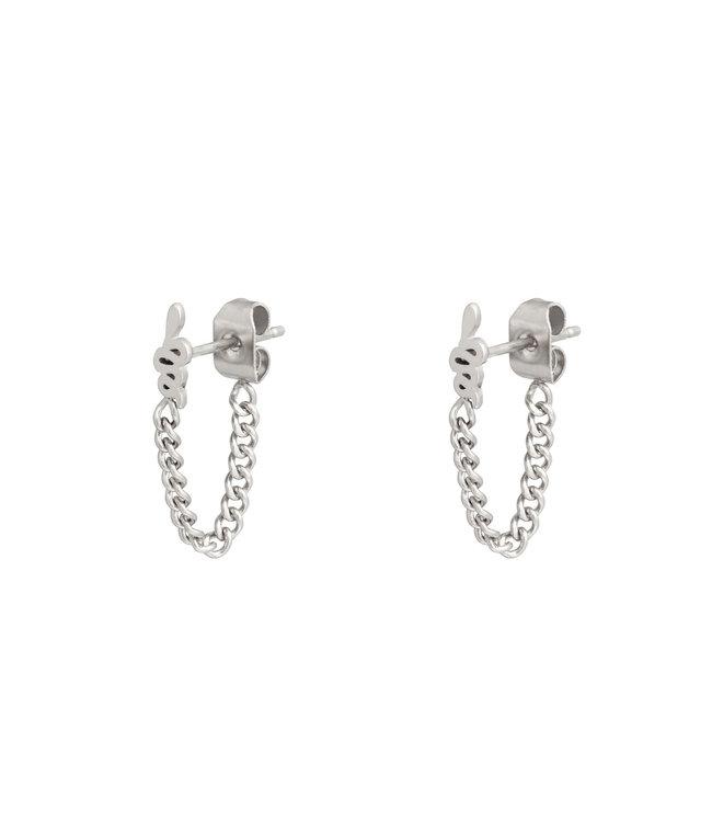 Snake Chain Stud Earrings