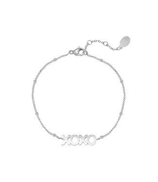 Silver XOXO Bracelet