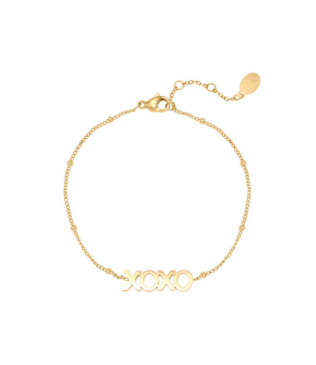 Gold Dotted XOXO Bracelet