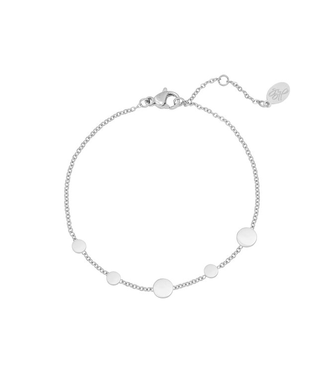 Silver Row of Coins Bracelet