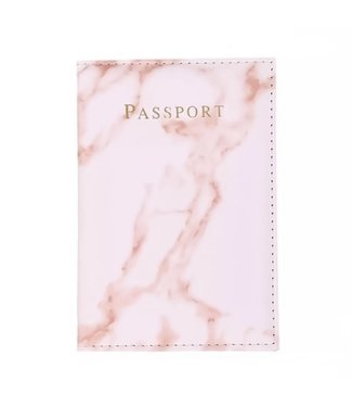 Marble Passport Cover / Pink