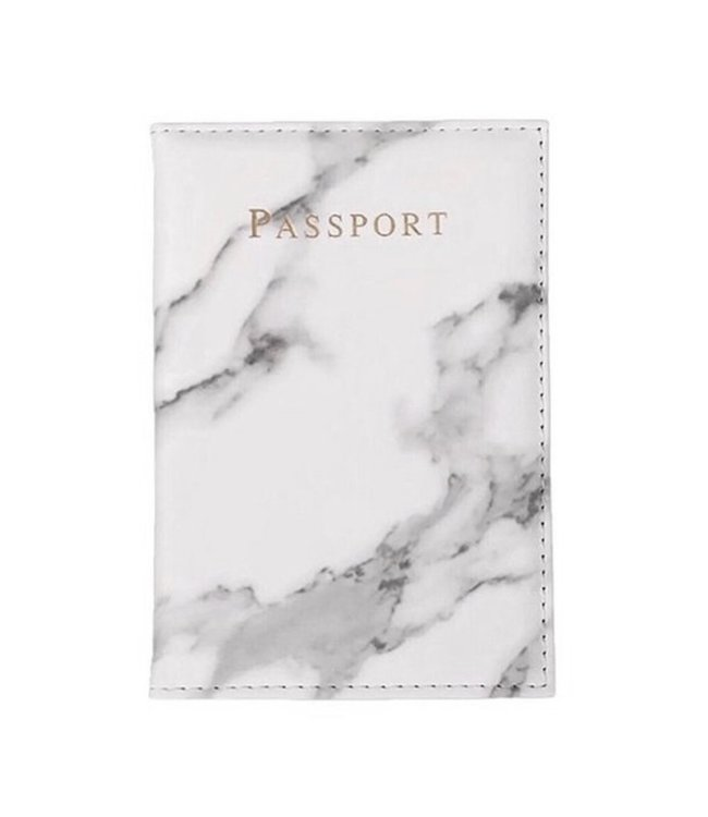 Marble White Passport Cover