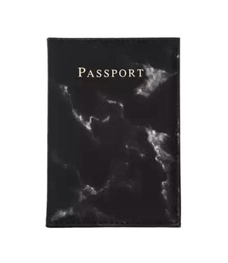 Marble Black Passport Cover