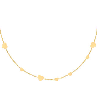 Row of Hearts Necklace