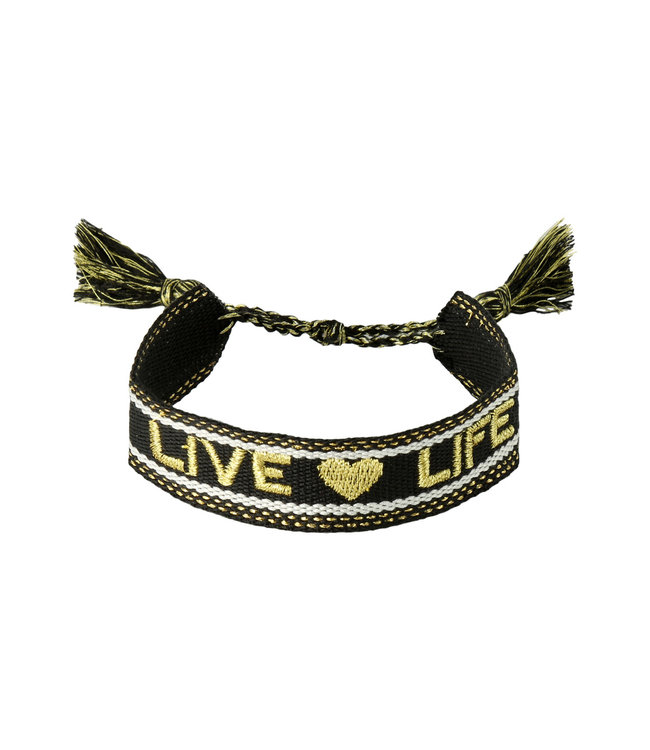Woven Live Life Bracelet