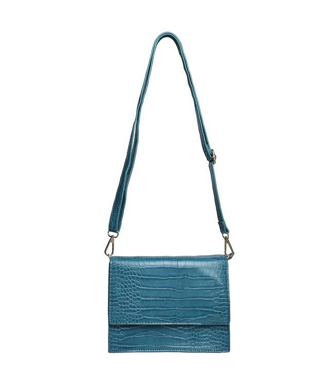Imani Croco Bag / Petrol Blue