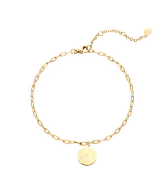 Gold Chasing the Sun Anklet