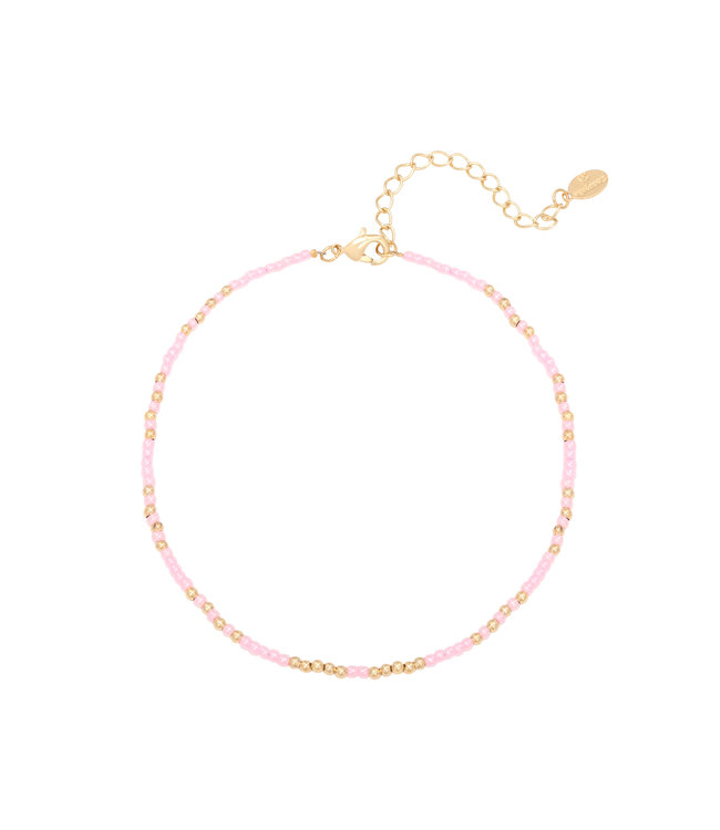 Mystic Beads Anklet / Pink