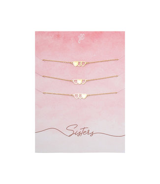 Three Sisters Bracelet Giftcard / Gold