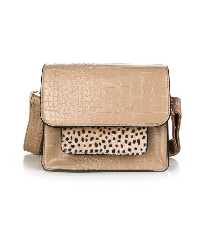 Lola Cheetah Bag / Beige