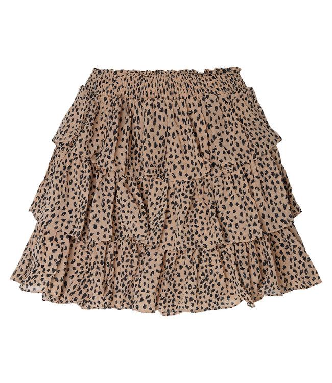 Ruffled Layers Skirt / Beige