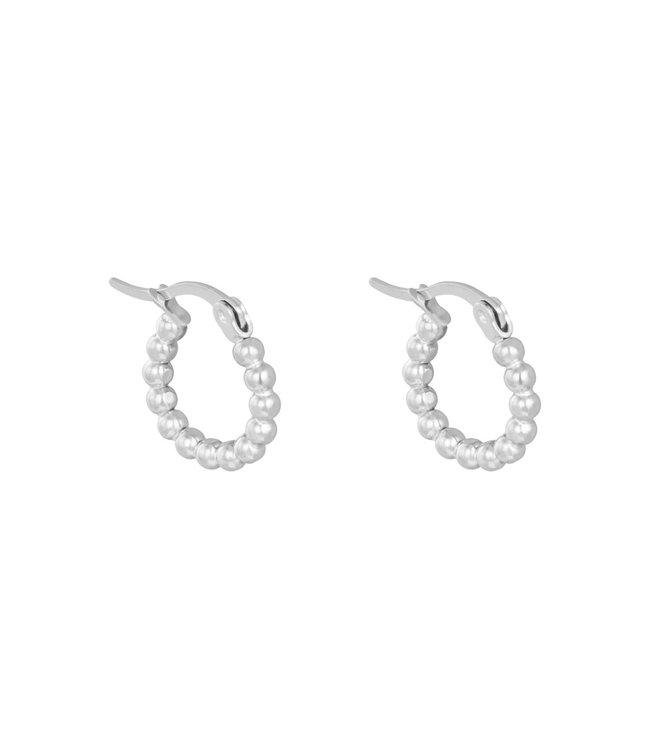 Spheres Hoop Earrings