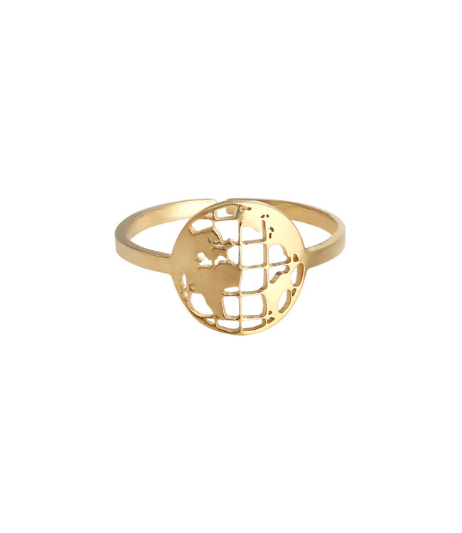 Gold Around the Globe Ring