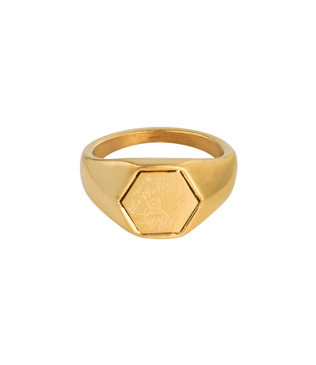 Gold The Wolves Signet Ring