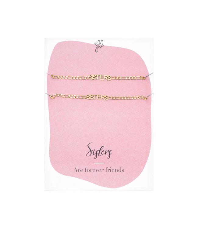 Sisters Forever Bracelet Giftcard / Gold