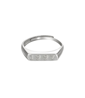 Silver Year of Birth Ring