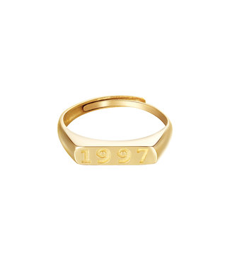 Gold Year of Birth Ring