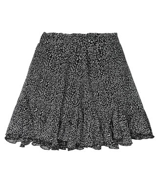 Flowy Panther Skirt / Black