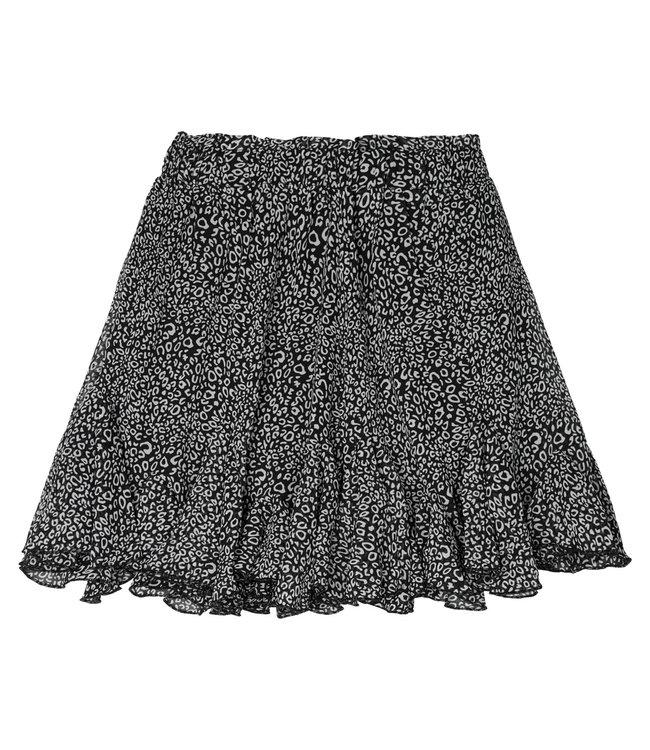 Flowy Panther Skirt / Black