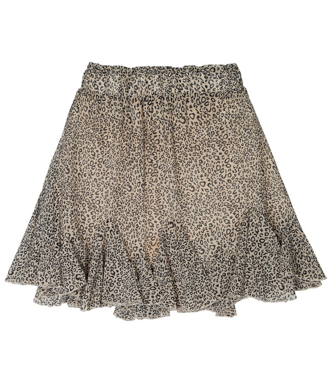 Flowy Panther Skirt / Beige