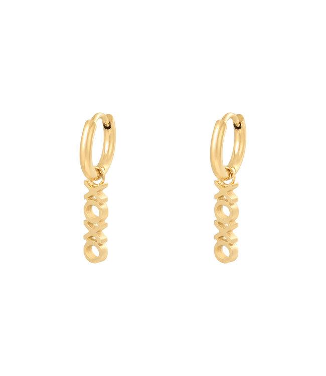 Gold Xoxo Earrings