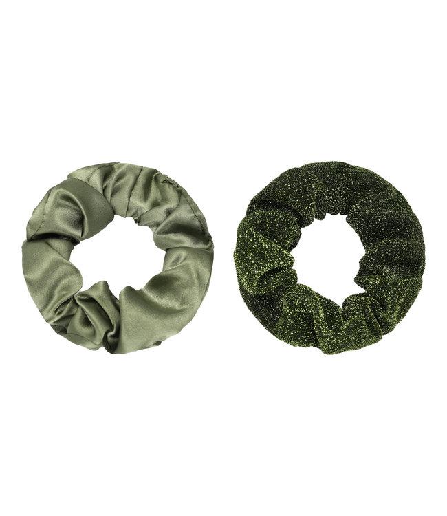 Dawn Scrunchie Set / Olive Green