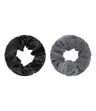Dawn Scrunchie Set / Silver