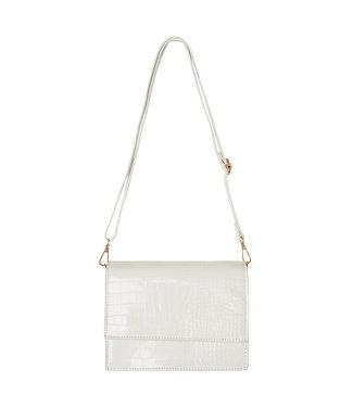 Imani Croco Bag / White