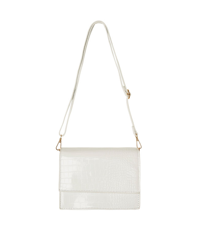 Imani Croco Bag / White