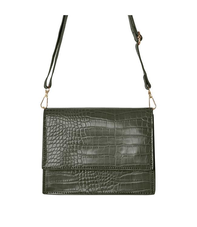 Imani Croco Bag / Olive Green