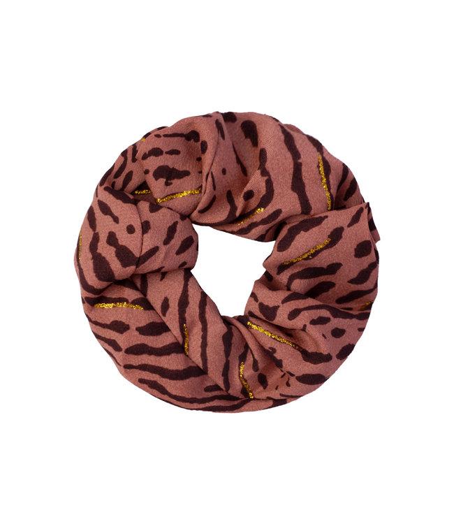 Animal Fever Scrunchie / Rusty Brown