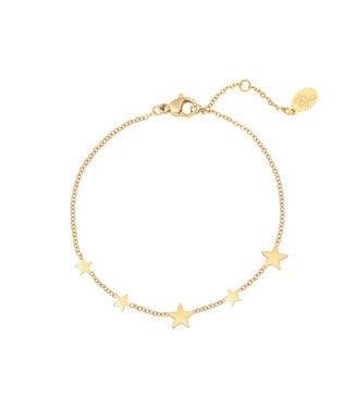 Gold Row of Stars Bracelet